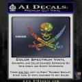 Skull and Cross Bones Decal Sticker Sparkle Glitter Vinyl 120x120