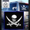 Skull and Cross Bones Decal Sticker White Emblem 120x120