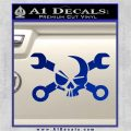 Skull and Wrenches D3 Decal Sticker Crossbones Blue Vinyl 120x120