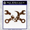 Skull and Wrenches D3 Decal Sticker Crossbones Brown Vinyl 120x120