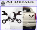 Skull and Wrenches D3 Decal Sticker Crossbones Carbon Fiber Black 120x97
