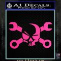 Skull and Wrenches D3 Decal Sticker Crossbones Hot Pink Vinyl 120x120