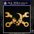 Skull and Wrenches D3 Decal Sticker Crossbones Metallic Gold Vinyl 120x120