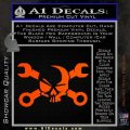 Skull and Wrenches D3 Decal Sticker Crossbones Orange Vinyl Emblem 120x120