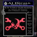 Skull and Wrenches D3 Decal Sticker Crossbones Pink Vinyl Emblem 120x120