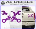 Skull and Wrenches D3 Decal Sticker Crossbones Purple Vinyl 120x97