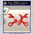 Skull and Wrenches D3 Decal Sticker Crossbones Red Vinyl 120x120