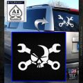 Skull and Wrenches D3 Decal Sticker Crossbones White Emblem 120x120