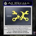 Skull and Wrenches D3 Decal Sticker Crossbones Yelllow Vinyl 120x120
