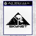 Skynet Skull Decal Sticker Black Logo Emblem 120x120
