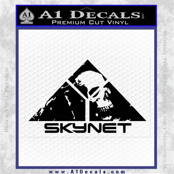 Skynet Skull Decal Sticker Black Logo Emblem