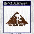 Skynet Skull Decal Sticker Brown Vinyl 120x120
