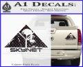 Skynet Skull Decal Sticker Carbon Fiber Black 120x97