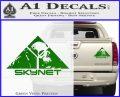 Skynet Skull Decal Sticker Green Vinyl 120x97