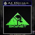 Skynet Skull Decal Sticker Lime Green Vinyl 120x120
