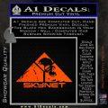Skynet Skull Decal Sticker Orange Vinyl Emblem 120x120