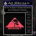 Skynet Skull Decal Sticker Pink Vinyl Emblem 120x120