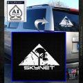 Skynet Skull Decal Sticker White Emblem 120x120