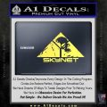 Skynet Skull Decal Sticker Yelllow Vinyl 120x120