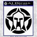 Spartan Ammo Star D1 Decal Sticker Black Logo Emblem 120x120