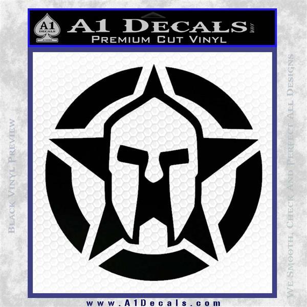 Spartan Ammo Star D1 Decal Sticker Black Logo Emblem