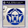 Spartan Ammo Star D1 Decal Sticker Blue Vinyl 120x120