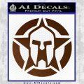 Spartan Ammo Star D1 Decal Sticker Brown Vinyl 120x120