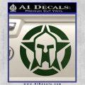 Spartan Ammo Star D1 Decal Sticker Dark Green Vinyl 120x120