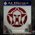 Spartan Ammo Star D1 Decal Sticker Dark Red Vinyl 120x120