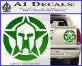 Spartan Ammo Star D1 Decal Sticker Green Vinyl 120x97