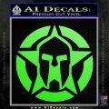 Spartan Ammo Star D1 Decal Sticker Lime Green Vinyl 120x120