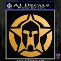 Spartan Ammo Star D1 Decal Sticker Metallic Gold Vinyl Vinyl 120x120
