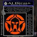 Spartan Ammo Star D1 Decal Sticker Orange Vinyl Emblem 120x120