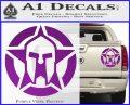 Spartan Ammo Star D1 Decal Sticker Purple Vinyl 120x97