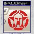 Spartan Ammo Star D1 Decal Sticker Red Vinyl 120x120