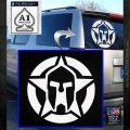 Spartan Ammo Star D1 Decal Sticker White Emblem 120x120