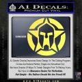 Spartan Ammo Star D1 Decal Sticker Yelllow Vinyl 120x120