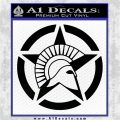 Spartan Ammo Star D2 Decal Sticker Black Logo Emblem 120x120