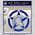 Spartan Ammo Star D2 Decal Sticker Blue Vinyl 120x120