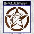 Spartan Ammo Star D2 Decal Sticker Brown Vinyl 120x120