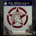 Spartan Ammo Star D2 Decal Sticker Dark Red Vinyl 120x120