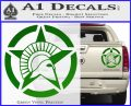 Spartan Ammo Star D2 Decal Sticker Green Vinyl 120x97