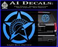 Spartan Ammo Star D2 Decal Sticker Light Blue Vinyl 120x97