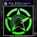 Spartan Ammo Star D2 Decal Sticker Lime Green Vinyl 120x120