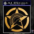 Spartan Ammo Star D2 Decal Sticker Metallic Gold Vinyl 120x120