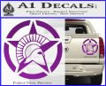 Spartan Ammo Star D2 Decal Sticker Purple Vinyl 120x97