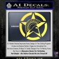 Spartan Ammo Star D2 Decal Sticker Yelllow Vinyl 120x120