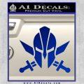 Spartan Crossed Swords D9 Decal Sticker Blue Vinyl 120x120