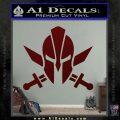 Spartan Crossed Swords D9 Decal Sticker Dark Red Vinyl 120x120