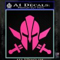 Spartan Crossed Swords D9 Decal Sticker Hot Pink Vinyl 120x120